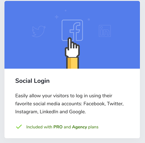 21 Social Login add on