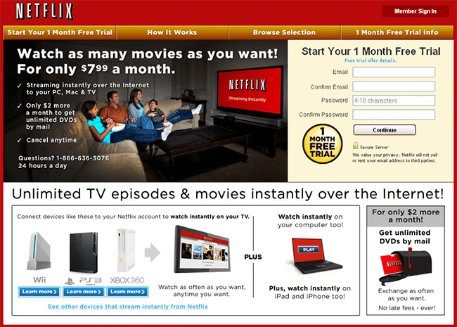 Change positioning to fit persona - Netflix new landing page
