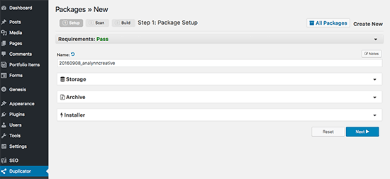 Creating New Package