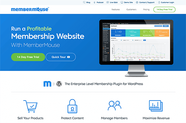 MemberMouse New Homepage