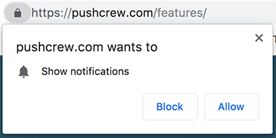 Show notifications block or allow
