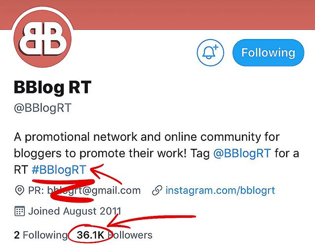 Twitter retweet accounts