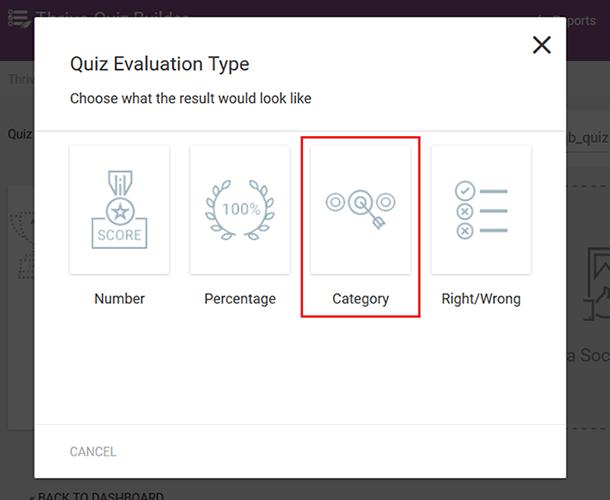 category quiz type