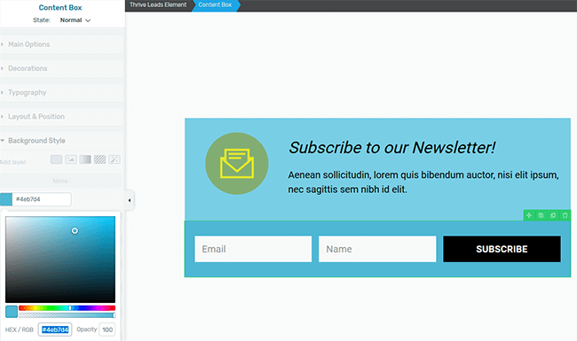 change opt-in box color