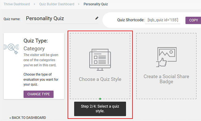 choose a quiz style