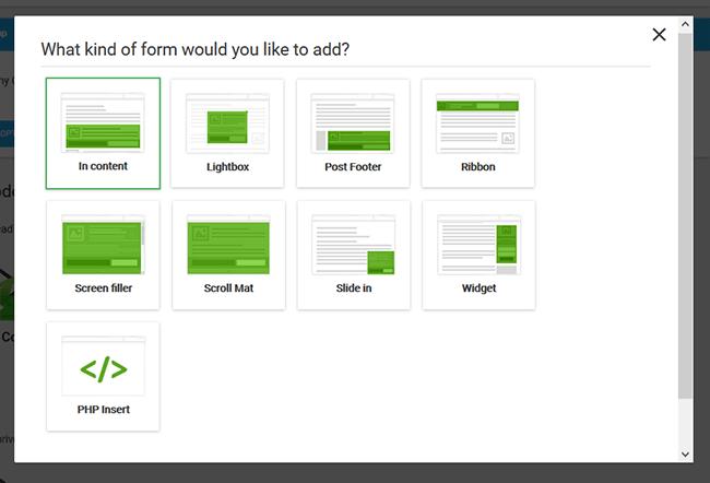 choose form type