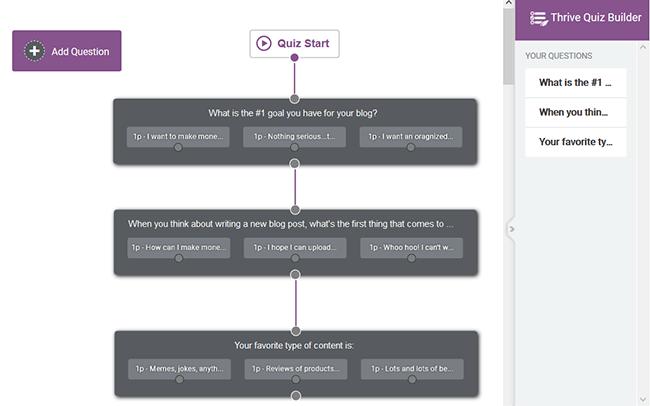 linking quiz questions