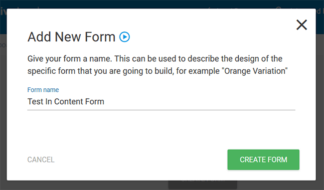 name new form