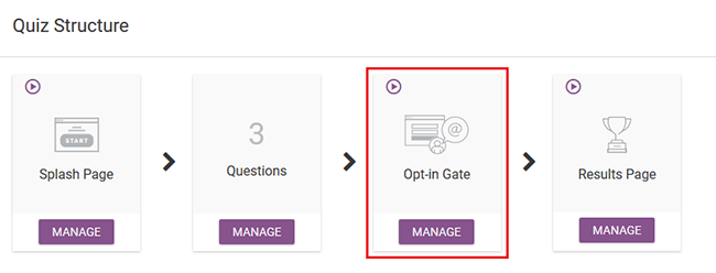 opt-in gate manage