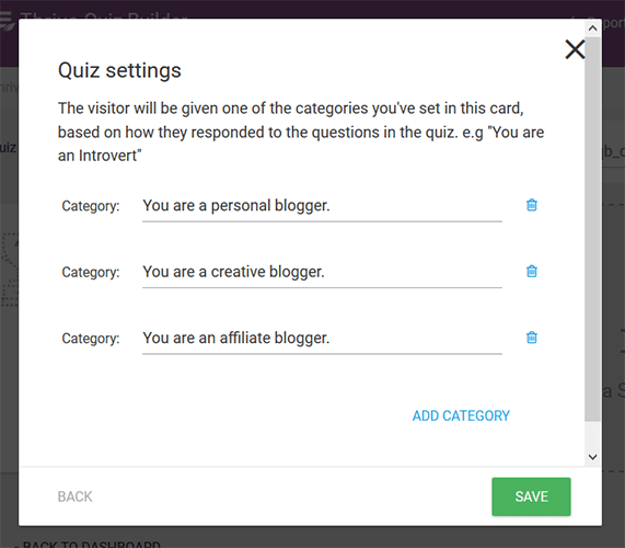 quiz categories