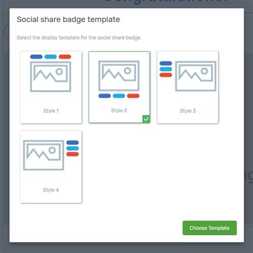 social share badge change template