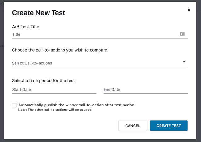 16 Create new split test