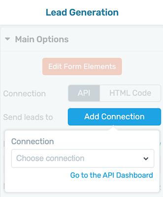 Lead Generation - Add Connection - API Dashboard