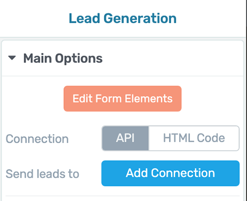 Lead Generation - Main Options - Send Leads To