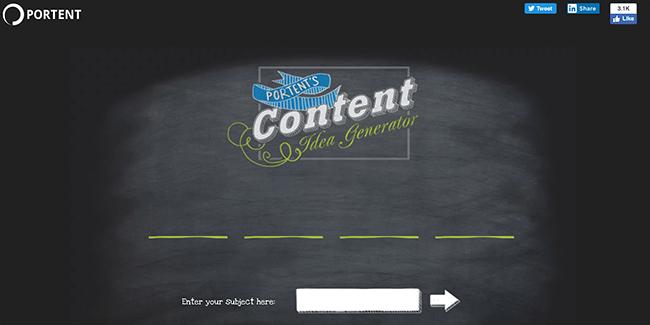 Portents Content Ideas Generator