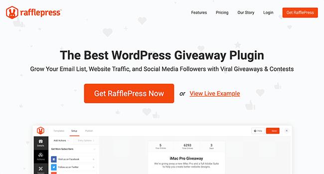 01. RafflePress Homepage