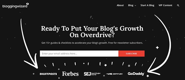 Blogging Wizard Featured On List