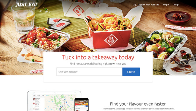 Just Eat Click-Through Landing Page