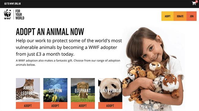 WWF Click-Through Landing Page