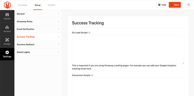 13. Success tracking