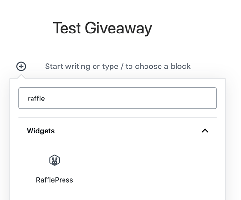 15. Add your giveaway with a widget