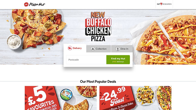 Pizza Hut Click-Through Landing Page