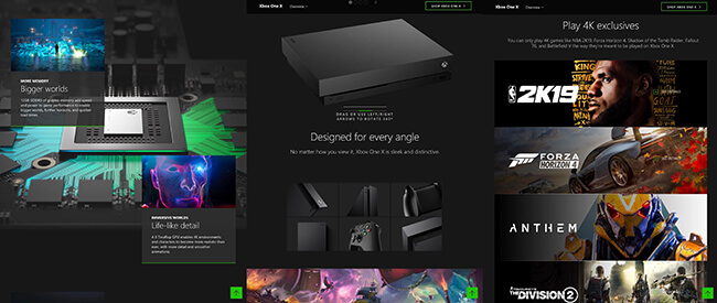 Xbox One Product Landing Page