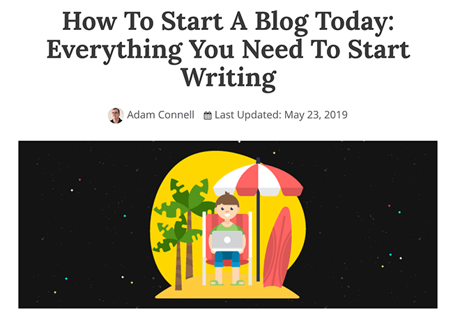 Beginner Guides - How To Start A Blog Example