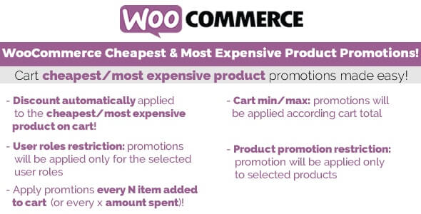 woocommerce cheapest expensive