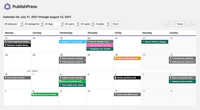 3 PublishPress editorial calendar