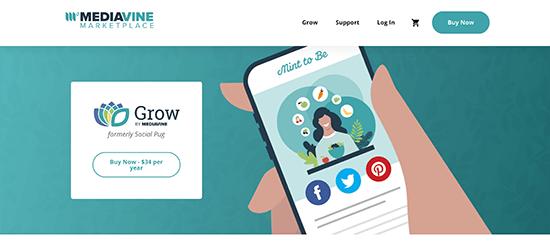 Grow Social Pro Homepage