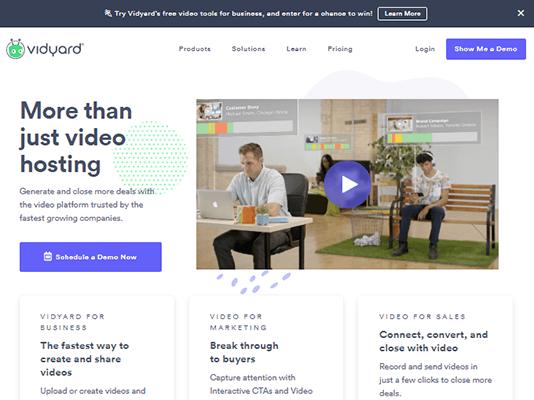 Vidyard Homepage