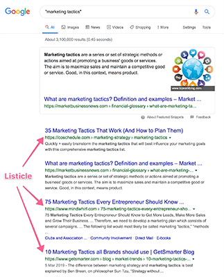 04 Marketing tactics Google example