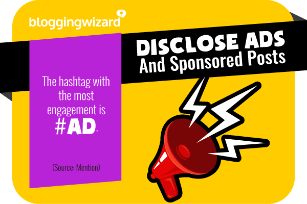 16 Disclose ads and sponsored content