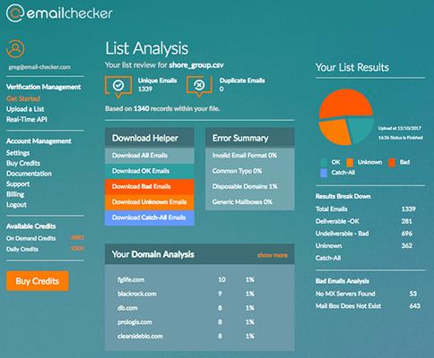 Email Checker Dashboard