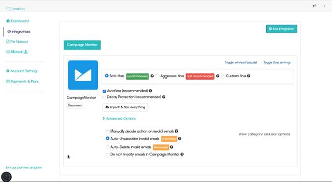 MailFloss Dashboard