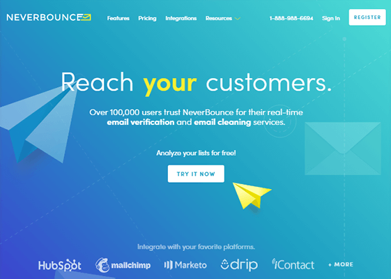 NeverBounce Homepage