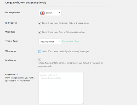 Step 3 customize your language switcher