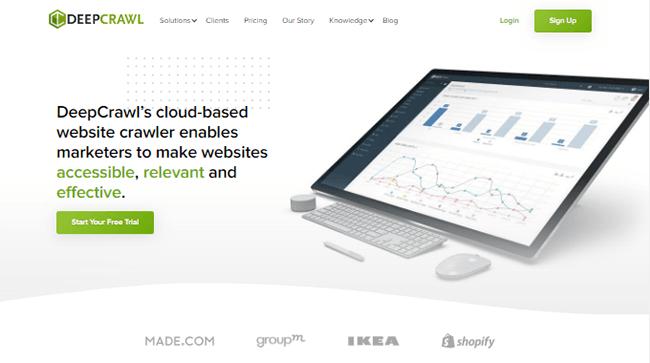 deepcrawl homepage