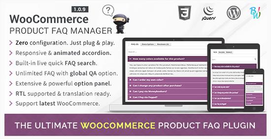 woocommerce product faq manager WP