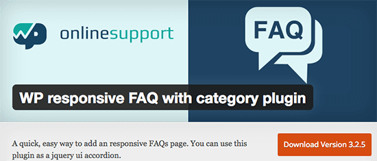 wp responsive faq WP