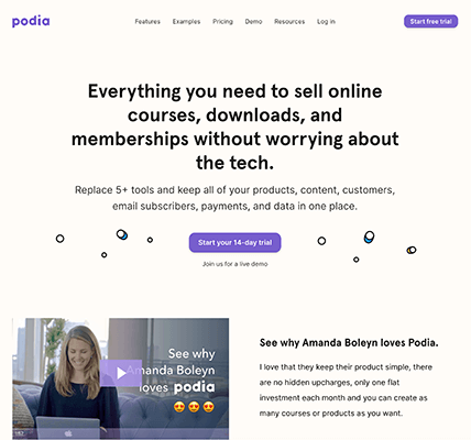 03 Podia product platform