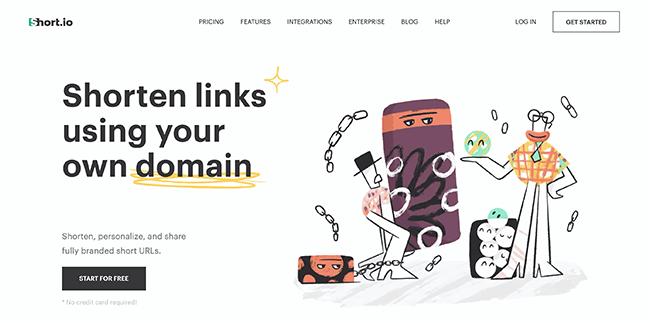 Short.io Homepage