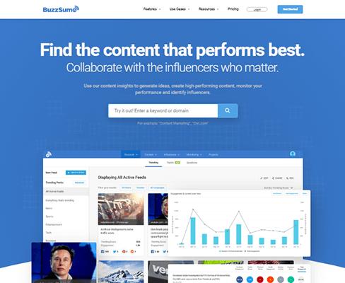 BuzzSumo website for SEO