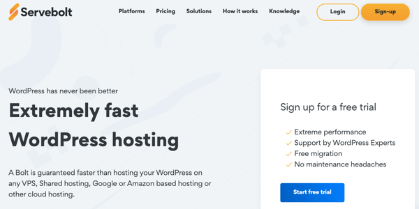 servebolt managed wordpress hosting