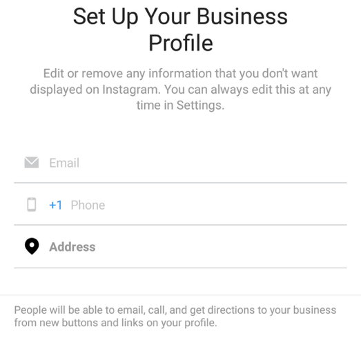 Set Up Your Business Profile