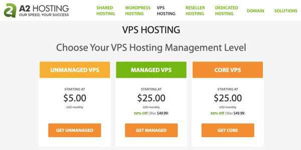 a2hosting vps hosting