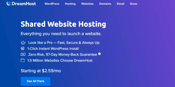 dreamhost ha condiviso l'hosting