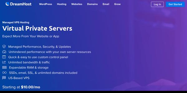 hosting vps dreamhost