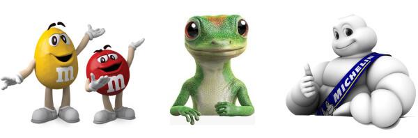 2 popular mascots